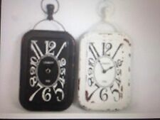 Vintage style Industrial Distressed Metal Wall Clock in 2 Colours