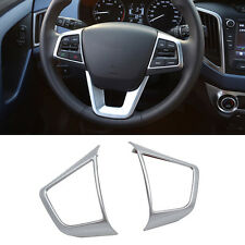 Fit For Hyundai Creta 15-19 Chrome Steering Wheel Panel Cover Trim Frame Molding
