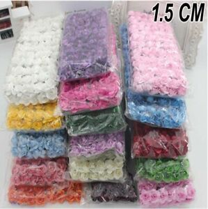 144 PCS MULBERRY PAPER ROSES/FLOWERS 11 colors and 1.5cm flowers Wedding UK