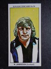 die Sonne SoccerCards 1978-79 - William (Willie) Johnston - Schottland #94