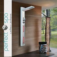 Luxus Glas Infrarot-Duschpaneel KS011B Duschsäule Duschset Regendusche NEU