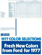 1977 Ford Ford Exterior Color Selections Sales Brochure