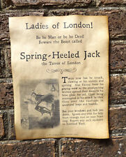 Spring-Heeled Jack Warning Poster, Halloween Decor 8.5x11 party terror of London