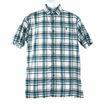 Kuhl Medium Shirt Short Sleeve Multicolored Plaid Button Front Polyester