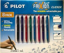 8 Pack Pilot FriXion Ball Clicker 0.7 Retractable Erasable Pen colour