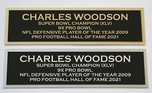 Charles Woodson nameplate for signed autographed jersey football helmet or photo