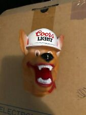 "Vintage Coors Light Beer ""Beer Wolf"" Tap Knob Handle Plastic Many Avail"