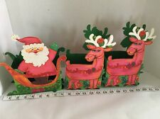 Vintage Hallmark Plans-a-Party, Santa and Reindeer Card Holder