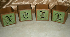 L@K Noel Home Interior Candle Votive Holders Metal Cut Out For Letter's Nice