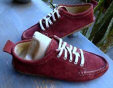 New England Outerwear~Neoc Cataumet~Merlot Soft Suede~Mocs Shoes~Men 9 1/2~Maine