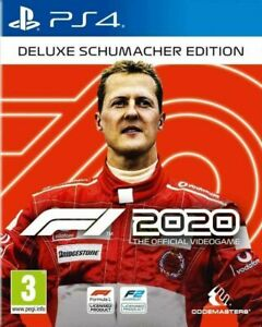 F1 2020 Deluxe Schumacher Edition PS4 VERY GOOD FREE POST + TRACKING (RARE)