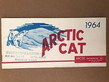 RARE!!!  Vintage 1964 Arctic Cat Snowmobile Sales Brochure Pamphlet Manual