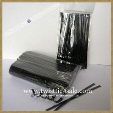 """1000pcs 4"""" Black Metallic Twist Tie for Candy Lollipop Cello Bag"""