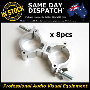8 x 100kg Aluminium Drop 50mm H/Duty Stage Lighting Bar Light Clamp LED PAR Cans