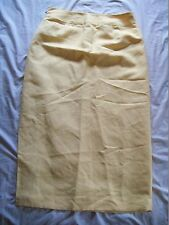 Woman's EMMA JAMES Liz Claiborne Company Yellow Linen Long Skirt Size 10 Lined