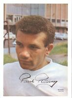 PAUL REANEY LEEDS UNITED 1962-1978 ORIGINAL HAND SIGNED PICTURE CUTTING