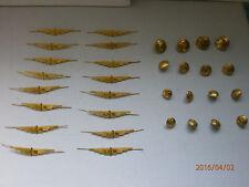 Lot  31 Vintage Old Bronze Buttons and Badges  Bulgarian Railway-Train Uniform