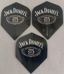 Darts Flights Jack Daniels Old No.7 Brand Black Standard Pack of 3 Flights