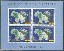 GHANA  IMPERFORATED SOUVENIR SHEET ELIZABETH VISIT  SCOTT#109a MINT NEVER HINGED