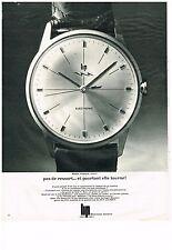 PUBLICITE ADVERTISING  1966    LIP  montre éléctronic