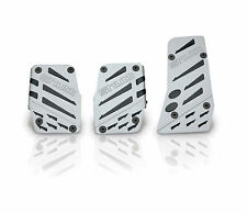 SHUTT - 'Fly Eagle' Brushed Pedal Pads with Black Rubber Strips - Set