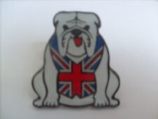 50 WHITE BRITISH BULLDOG ENAMEL PIN BADGES