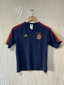 SPAIN 2002 2004 AWAY FOOTBALL SHIRT SOCCER JERSEY ADIDAS sz M BOYS