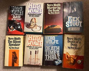 Lot of 26 paperback books by Rex Stout 24 different Mostly Nero Wolfe Series