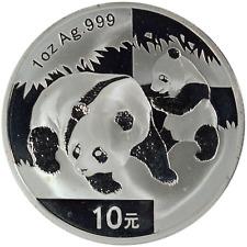 China 1 oz Silver Coin 2008 Panda 10 Yuan .999 Fine No Mint Capsule
