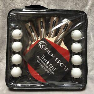 NEW Opium Sport Table Tennis Ping Pong Professional Racket Set 4 Paddles 8 Balls