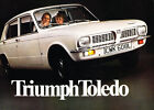 1973 Triumph Toledo 12-page Original Car Sales Brochure Catalog - UK