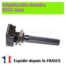 Potentiomètre linéaire axial 500K ohms 200mW