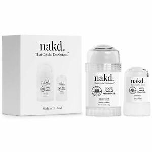 nakd. Thai Crystal Deodorant Stone – 2 Salt Deodorant Crystal Sticks