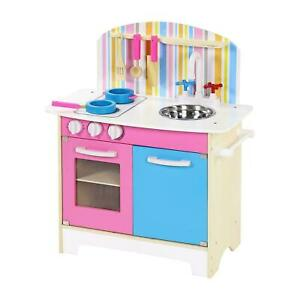 Children Kids Wooden Kitchen Pretend Play Set Toys Cooker Cooking Chef Gift Xmas