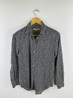 Trenery Women's Long Sleeve Button Up Collared Shirt Size XXS Black
