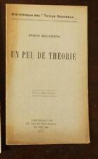 ENRICO MALATESTA  UN PEU DE THEORIE  TEMPS NOUVEAUX n ° 15 1899