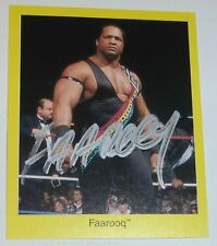 Faarooq Signed 1998 WWF Pro Wrestling Trivia Game Trading Card WWE Ron Simmons