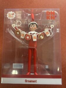 Limited Edition 2020 Dunkin Donuts Ornament Boy Elf On A Shelf NEW Release