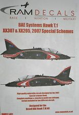 1/32 BAE Hawk T.1 XX307 & XX205 2007 Special Schemes Decals by RAM Decals