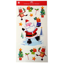 Christmas Window Cling Stickers, Large Cute Colourful Images, by Giftmaker