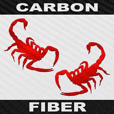 Carbon Fiber Scorpion Sticker 2 Pack Vinyl Scorpio Decals