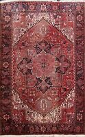 Geometric Semi-Antique Heriz Hand-knotted Area Rug Traditional Wool Carpet 9x11