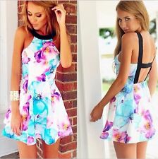 Unbranded Women's Floral Sleeveless Cotton Blend Jumpsuits & Playsuits