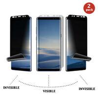 2 pack Privacy Screen Protector Samsung Galaxy S9 /S9 + Plus /Note 9 Nano 3D TPU