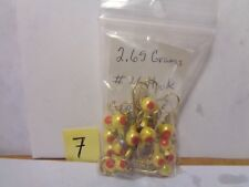 Painted Swimming Jig, Light 1/8 Oz. #4 Hook, Gold w/Red Eyes 25 Count(New Other)
