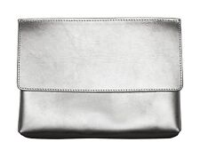 Leather Clutch Be my Rockstar Silver camera bag olympus