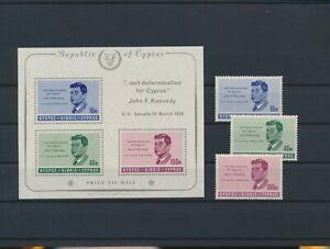 LO16322 Cyprus John F. Kennedy fp fine lot MNH