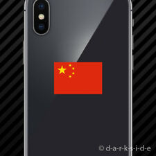 (2x) Chinese Flag Cell Phone Sticker Mobile China