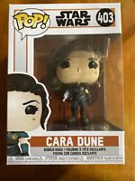 Cara Dune Star Wars The Mandalorian Funko Pop #403 🔥RARE - PROTECTOR INCLUDED