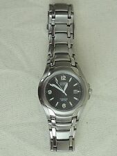 Citizen Eco-Drive WR100 Titanium Mens Watch * Runs & Looks Great *